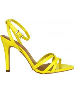 Offline Hazel Stiletto Patent Sandal - Yellow