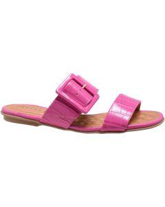 Offline Flora Slide Sandal Croco Print - Pink